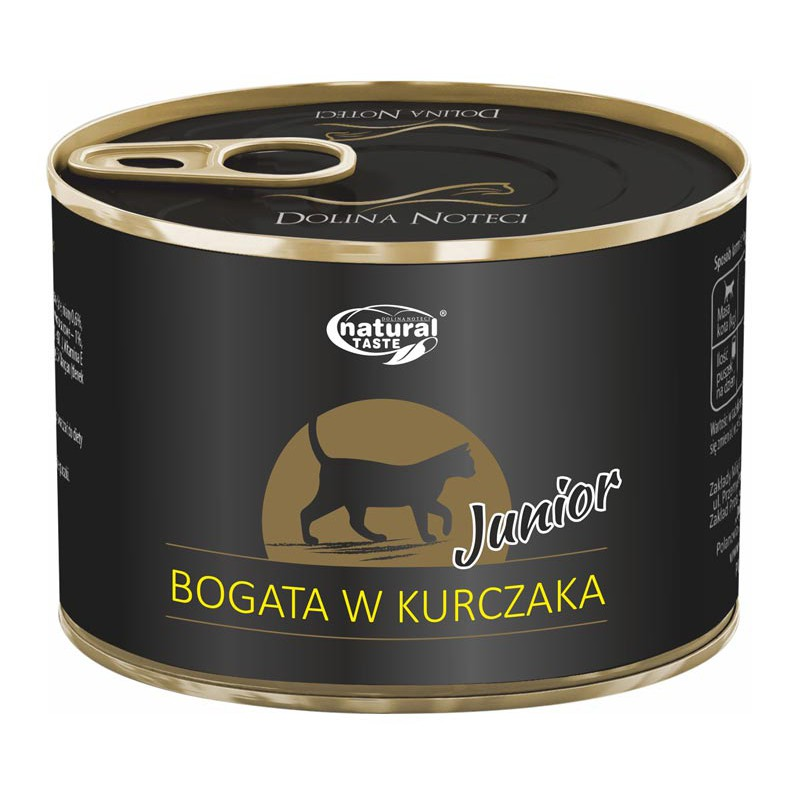 natural-taste-cat-junior-bogata-w-kure-185-g.jpg DN NATURAL TASTE CAT JUNIOR z kurczakiem puszka dla kota 185 g