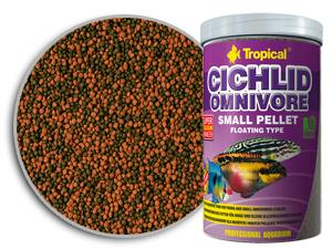 TROPICAL Cichlid Omnivore Small Pellet 90g/250ml